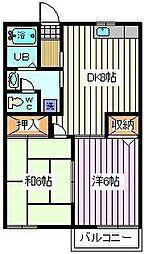 ヴィラ永堀 3[1階]の間取り
