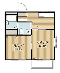 千葉県市川市宝2丁目の賃貸アパートの間取り