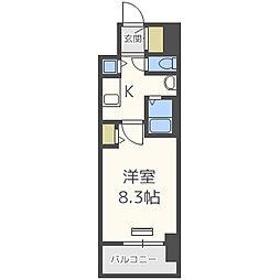ララプレイス大阪ウエストプライム[10階]の間取り