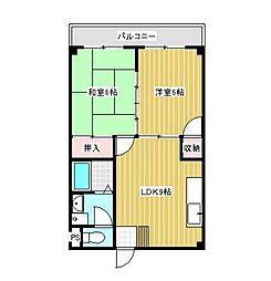 広島県呉市和庄1丁目の賃貸マンションの間取り