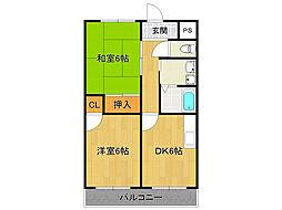 サニーサイド武庫之荘3[4階]の間取り