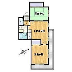 セラヴィ毛馬[2階]の間取り