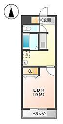 I's Villa Annex[4階]の間取り