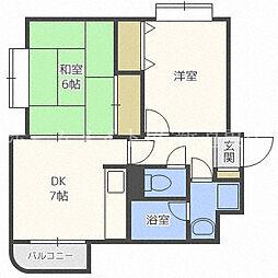 北海道札幌市東区北二十八条東12丁目の賃貸マンションの間取り
