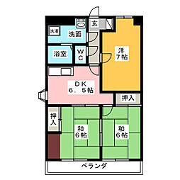 シティハイム田町[8階]の間取り