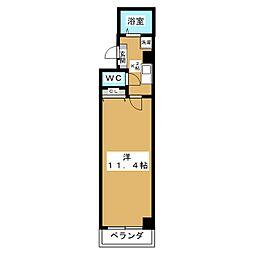 sawarabiハイッテン[4階]の間取り