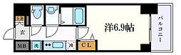名古屋市営桜通線 丸の内駅 徒歩2分の賃貸マンション 11階1Kの間取り