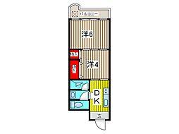 東久喜沢ハイツ[505号室]の間取り