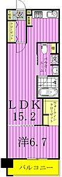 ロイヤルパークス西新井[4階]の間取り