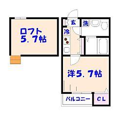 仮)平田2丁目の新築[104号室]の間取り