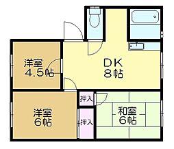 サニ・プラーザ大崎台C棟[1階]の間取り