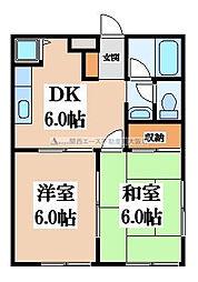 マノアール石切[2階]の間取り