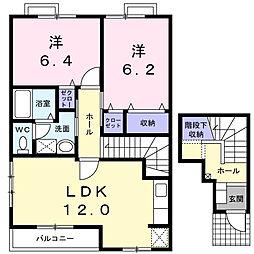 アクティ・ヤマサ参番館[2階]の間取り