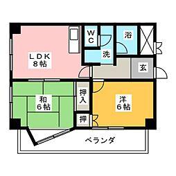 ファルコン熱田[2階]の間取り