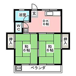 ハイツ鈴木[2階]の間取り