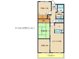 兵庫県神戸市西区玉津町居住の賃貸マンションの間取り