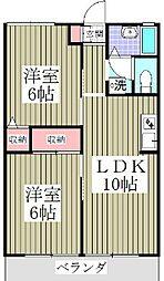埼玉県東松山市神明町1丁目の賃貸アパートの間取り