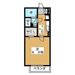 モナリエーレ B[1階]の間取り