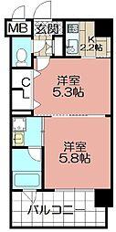 エンクレストNEO博多駅南(1007)[1007号室]の間取り
