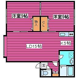 北海道札幌市東区北三十六条東3丁目の賃貸アパートの間取り