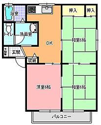 サンクレスト A棟[2階]の間取り