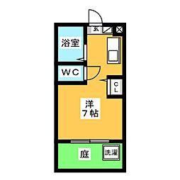 メゾンフクイ[1階]の間取り