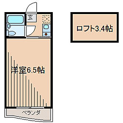 東京都町田市玉川学園8の賃貸アパートの間取り