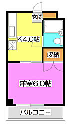 埼玉県所沢市東所沢3丁目の賃貸マンションの間取り