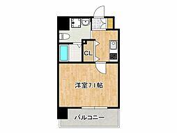 JPレジデンス大阪城東II 4階1Kの間取り