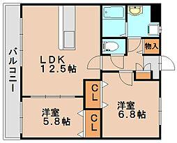 メゾンヴァイセローゼ[4階]の間取り