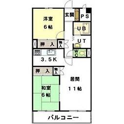 北海道札幌市東区北四十一条東1丁目の賃貸マンションの間取り