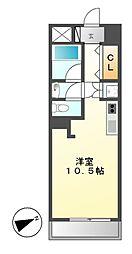 泉アパートメント[9階]の間取り