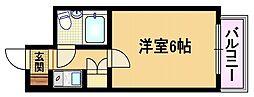 大阪府大阪市都島区大東町1丁目の賃貸マンションの間取り