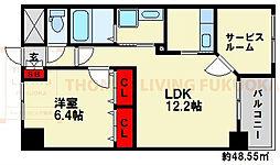 JR鹿児島本線 南福岡駅 バス18分 堤ヶ浦停下車 徒歩4分の賃貸マンション 2階1SLDKの間取り