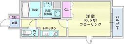 仙台市営南北線 長町駅 徒歩7分の賃貸マンション 3階1Kの間取り