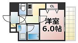 Osaka Metro千日前線 北巽駅 徒歩4分の賃貸マンション 9階1Kの間取り