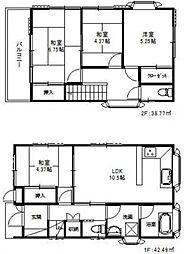 [一戸建] 千葉県松戸市古ケ崎4丁目 の賃貸【/】の間取り