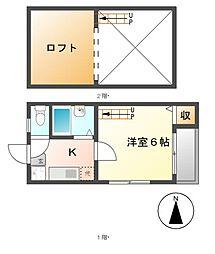 アーバンプラザ名古屋[2階]の間取り