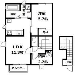 リ・アンジュ[1-202号室]の間取り