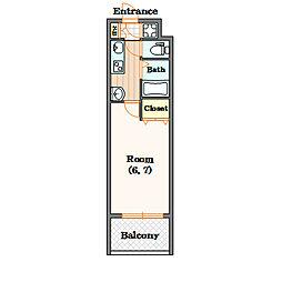 Lib(リブ)[4階]の間取り