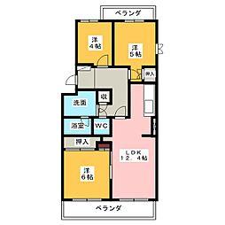 コープ野村半田I号棟[3階]の間取り