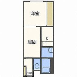 北海道札幌市西区山の手三条3丁目の賃貸マンションの間取り