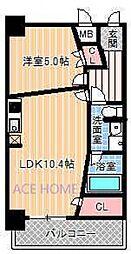 Zeus西梅田premium[415号室号室]の間取り