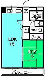 ポコアポコさくら夙川メゾン[206号室]の間取り