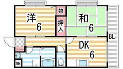 東建マンション[211号室]の間取り