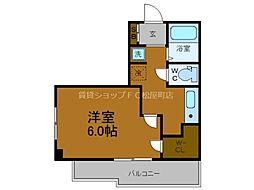 Osaka Metro谷町線 谷町六丁目駅 徒歩4分の賃貸マンション 4階1Kの間取り
