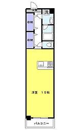 神奈川県横浜市港北区新横浜1丁目の賃貸アパートの間取り
