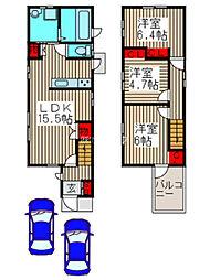 [一戸建] 埼玉県上尾市本町3丁目 の賃貸【/】の間取り