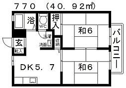 ファミール島泉[202号室号室]の間取り