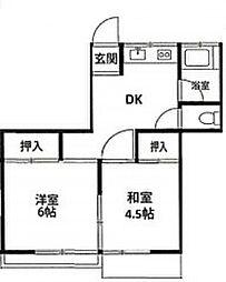 東京都板橋区徳丸1丁目の賃貸マンションの間取り